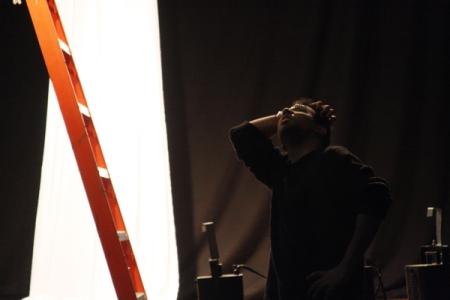 Eu na montagem de luz.